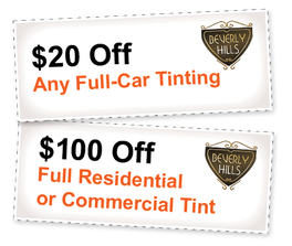 Window Tinting Coupons for locations in Ft Myers & Naples, Florida
