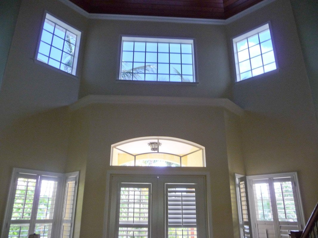 Home window tinting plantation shutters