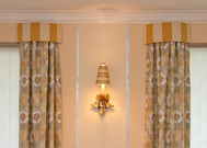 Custom draperies & cornices