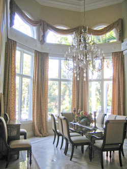 Custom draperies and curtains