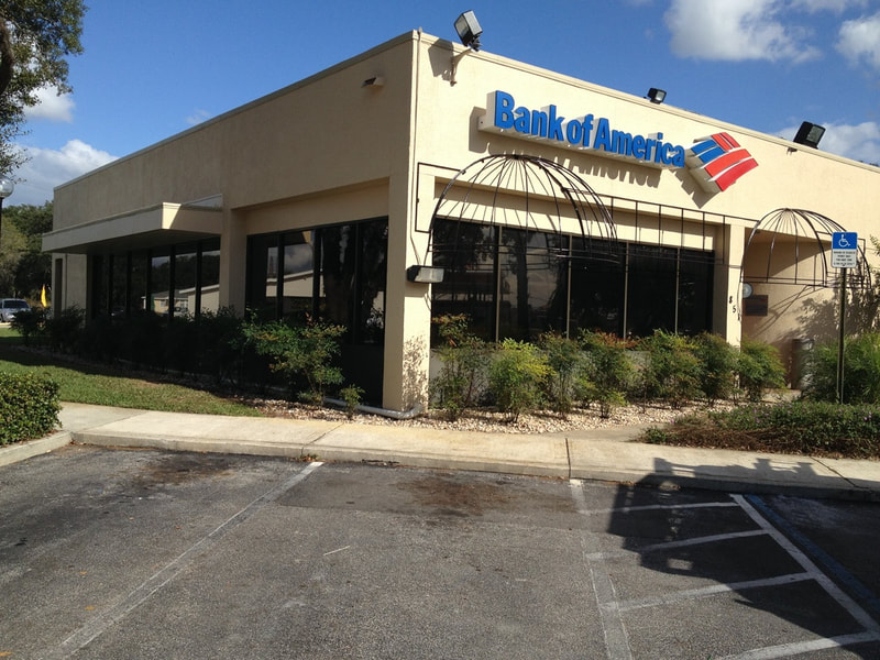 Security film installed at Bank of America. Avon Park, FL
