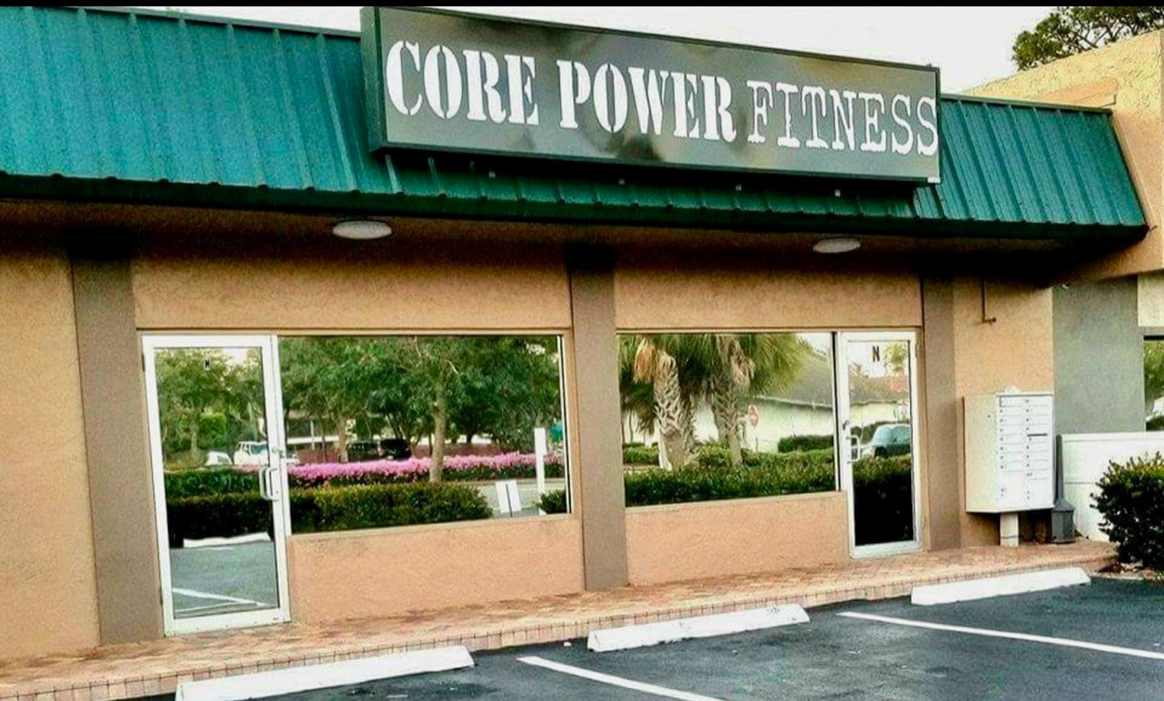 Tinted storefront at Core Power Fitness. Naples