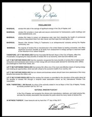 2017 National Window Film Day Proclamation in Naples, FL