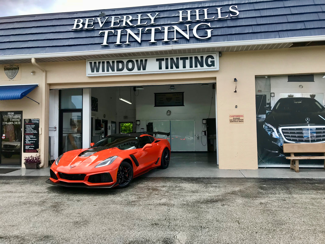 Beverly Hills Window Tinting & Treatments storefront in Fort Myers, FL