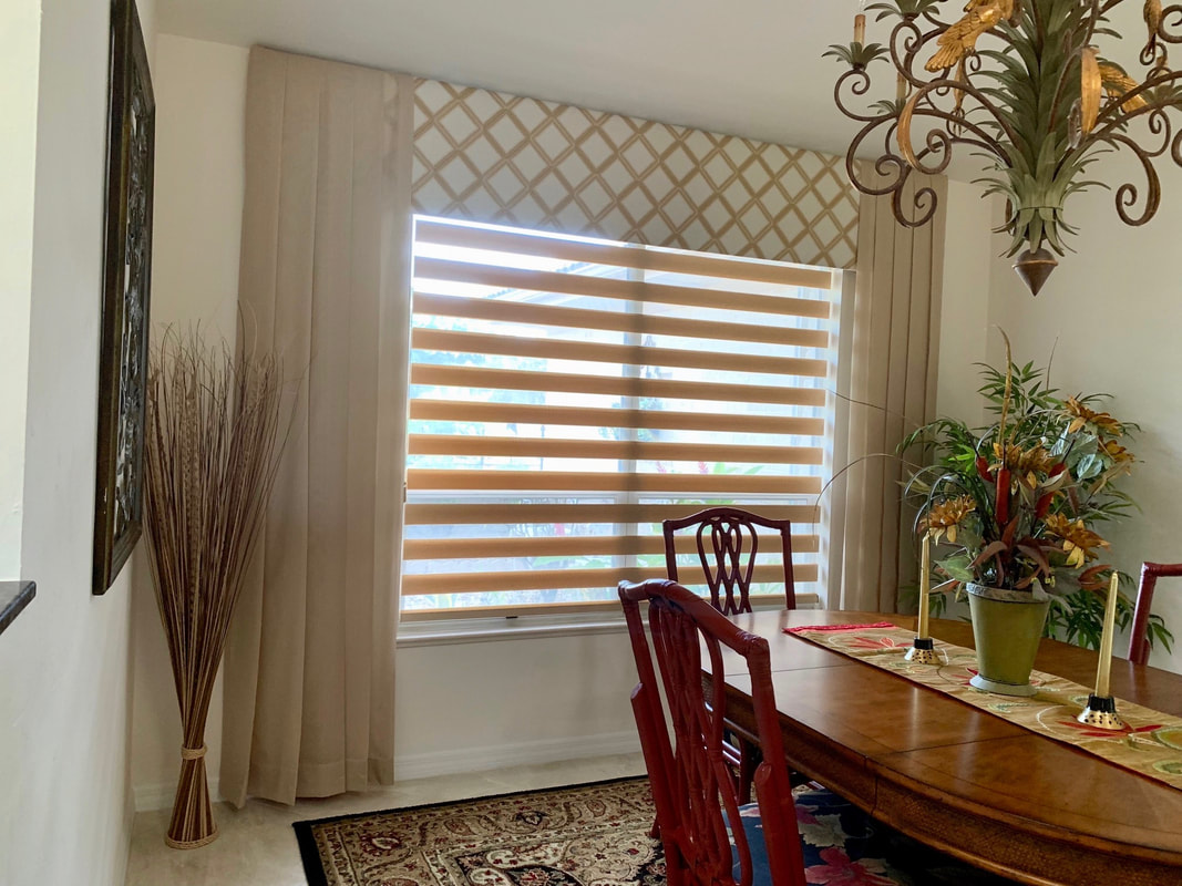 Home window tinting & Hunter Douglas banded shades
