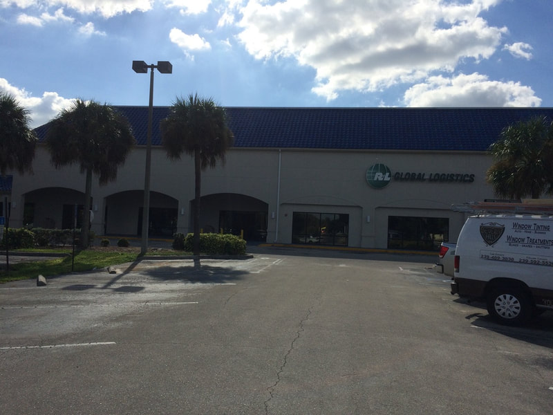 Window tinting at RL Global Logistics. Ft Myers