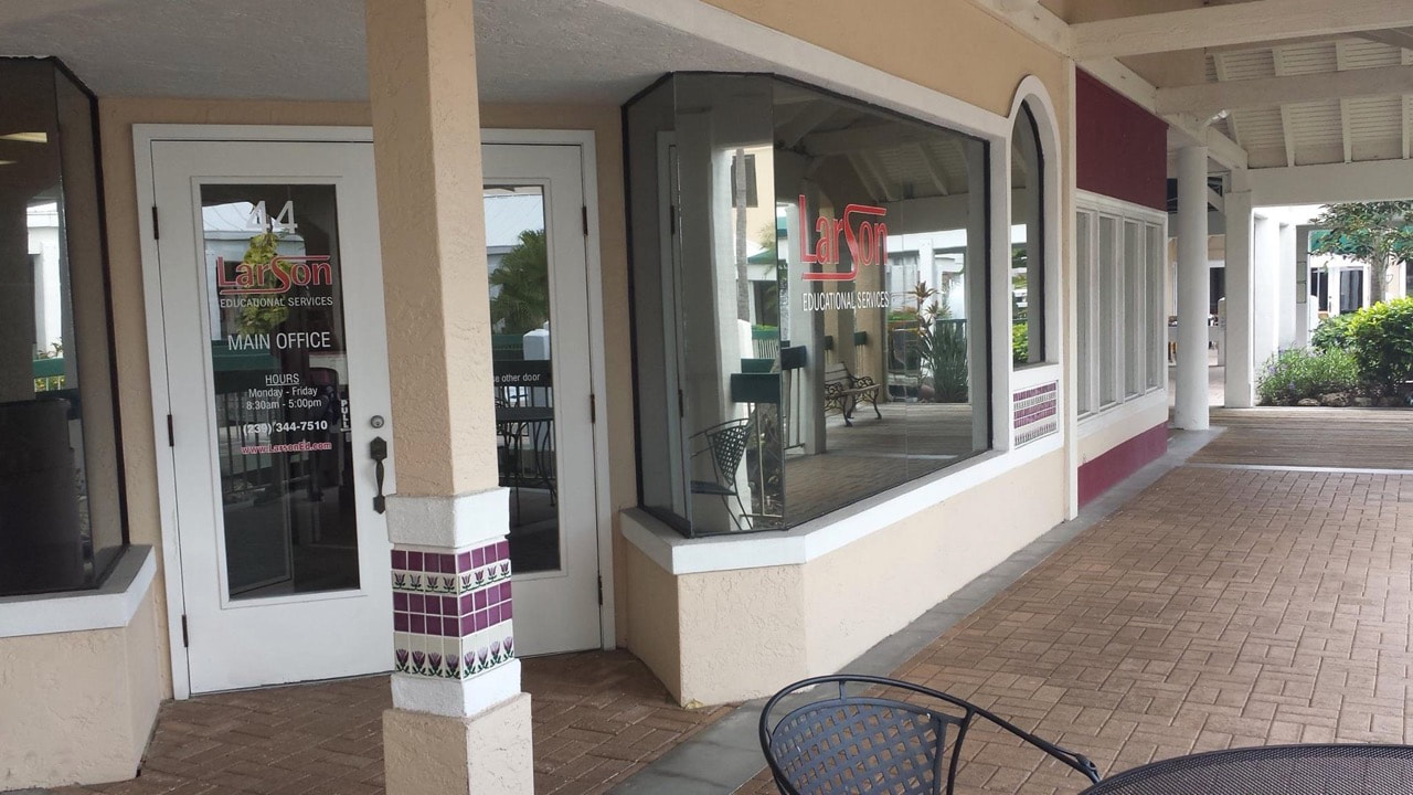 Security window film Larson Ed in Ft Myers.
