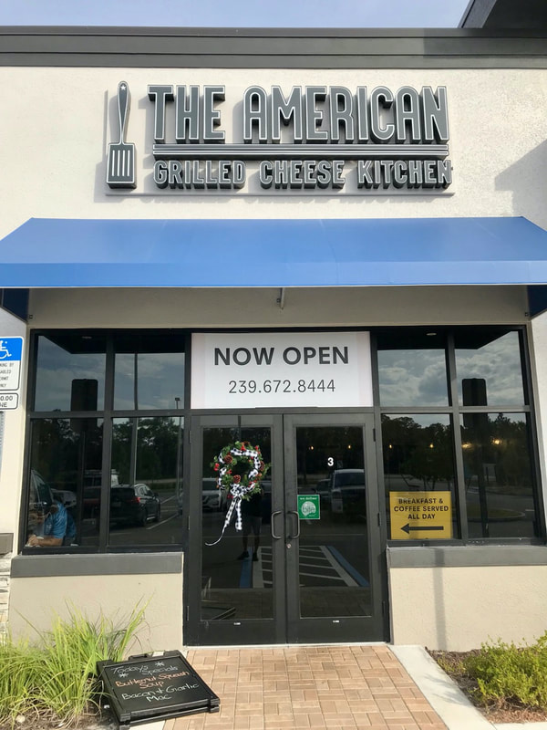 Windows tinted at The American Grilled Cheese Kitchen. Fort Myers