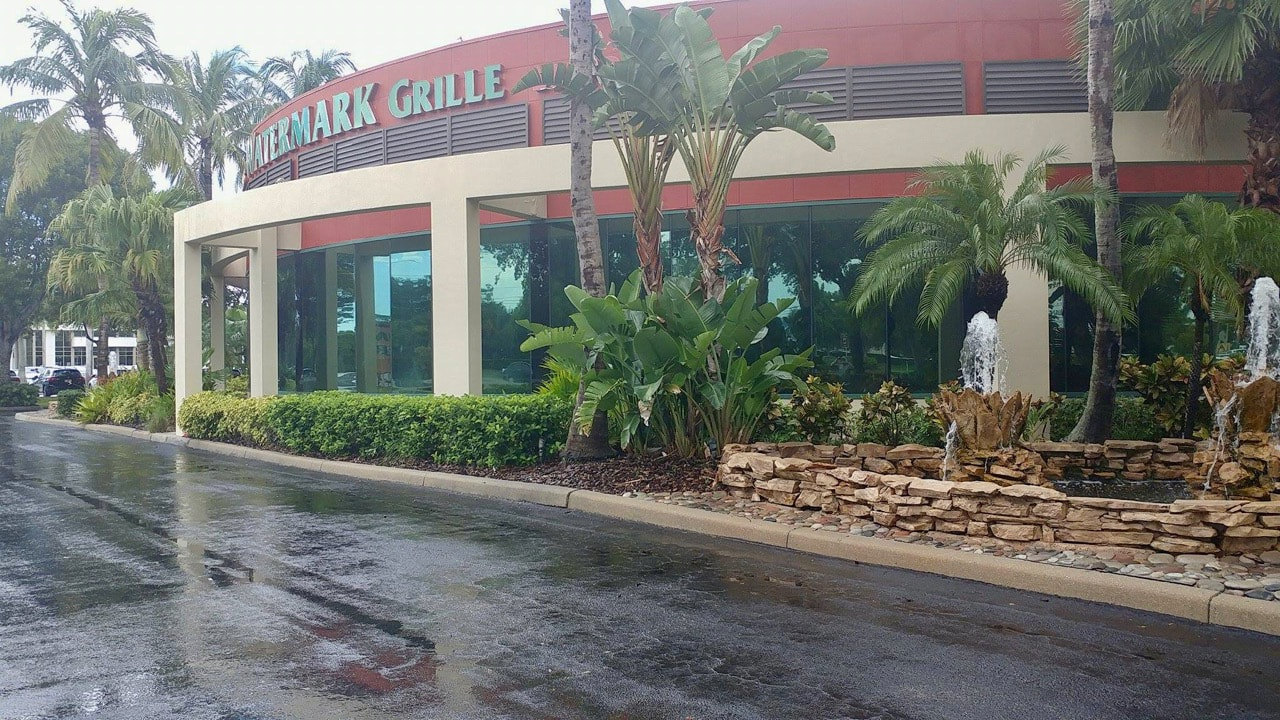 Restaurant windows tinted at Watermarke Grill. Naples 34110