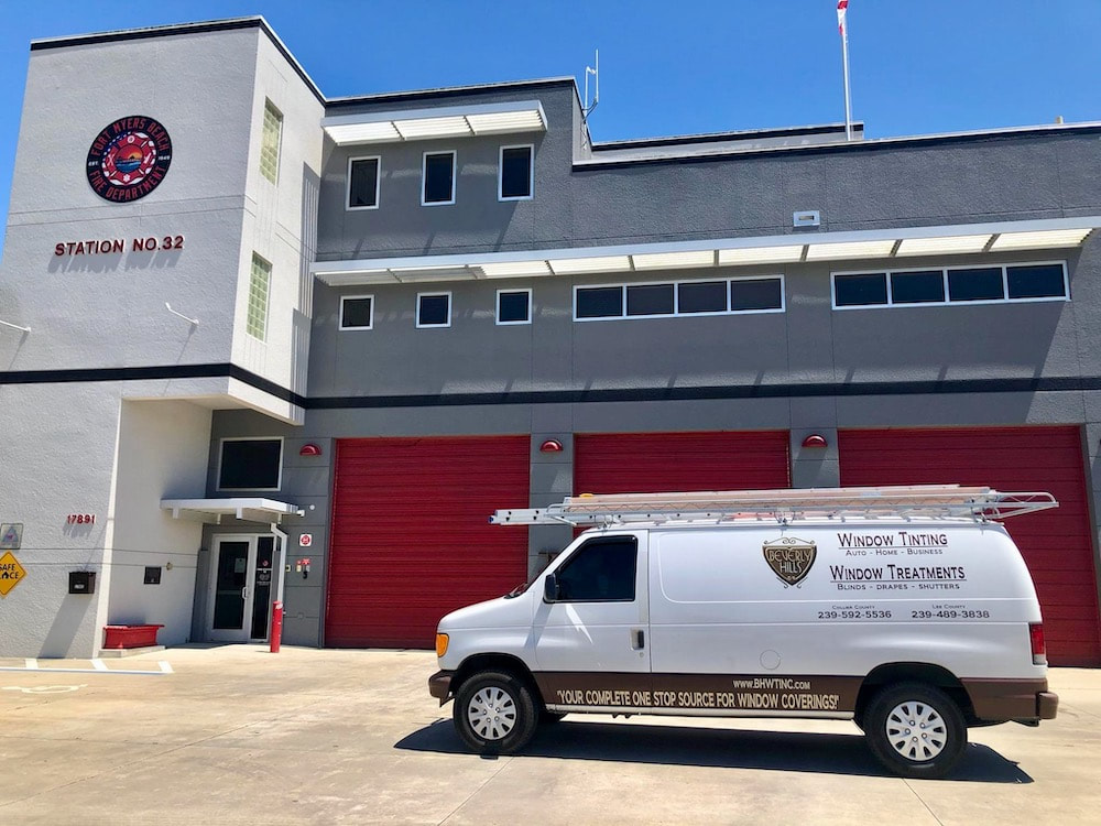 Beverly Hills Window Tinting at Fort Myers Beach Fire Dept Station 32